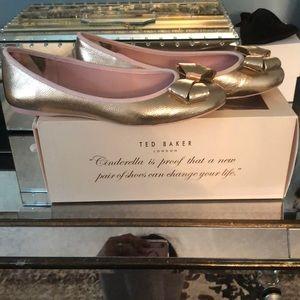 Ted Baker rose gold ballet slipper